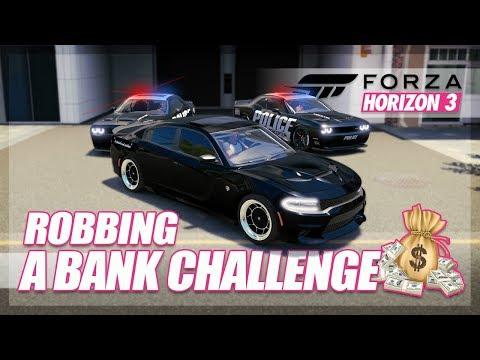 Forza Horizon 3 - Bank Robbery Challenge! (Build & Chase)