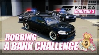 Forza Horizon 3 - Bank Robbery Challenge! (Build & Chase)