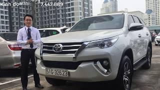 [Đã bán] Bán xe Toyota Fortuner 2017 cũ máy xăng số tự động một cầu màu trắng giá tốt
