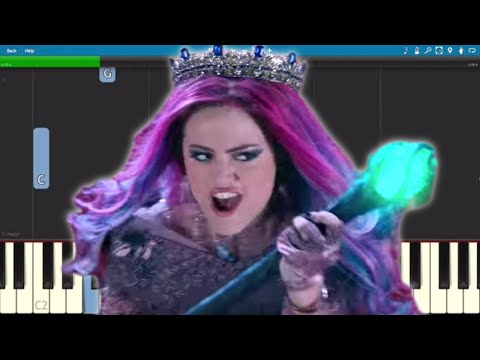 Descendants 3 - Queen Of Mean - Piano Tutorial - Sarah Jeffery
