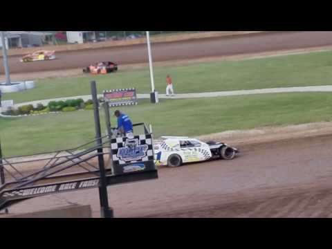 6-24-2018 IMCA Sport Mod Heat race at Plymouth Dirt Track Racing