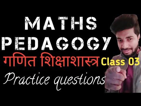Maths Pedagogy | CTET | and all TET's preparation | Class 03 |