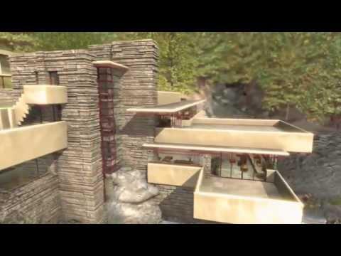 Frank Lloyd Wright - Fallingwater, house over waterfall.