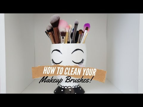 How to Clean Makeup Brushes/ Fast and Simple way to Clean Makeup Brushes