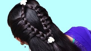 Different hairstyle for long hair 2019 | Hairstyles for Party, wedding, function | Hairstyles girl