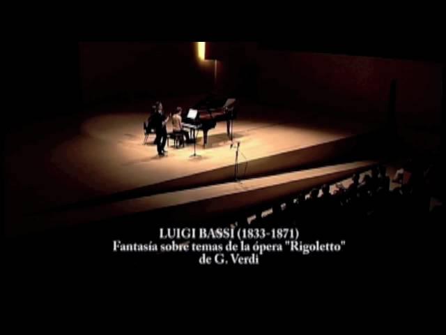 Rigoletto Concert Fantasy By Luigi Bassi For Clarinet And Piano
