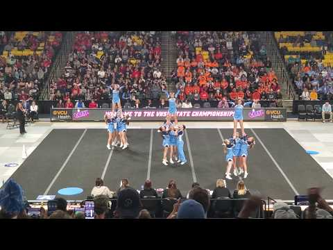 Page County High School 2A VHSL State Cheer 2019 Round 2