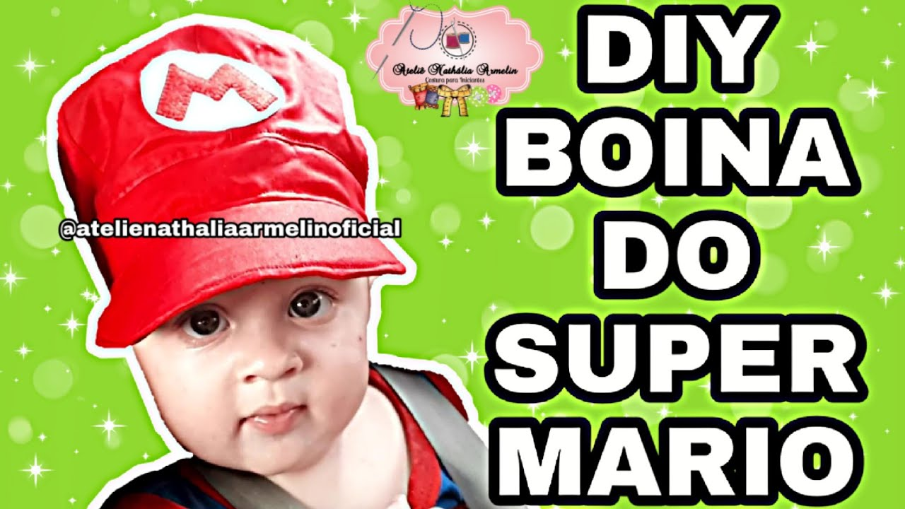 Boina do super mario infantil  a9290ea4873
