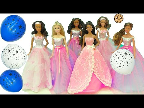 2017 Happy Birthday Wishes Barbie Dolls + Surprise Blind Bags In Light Up Ball Balloons