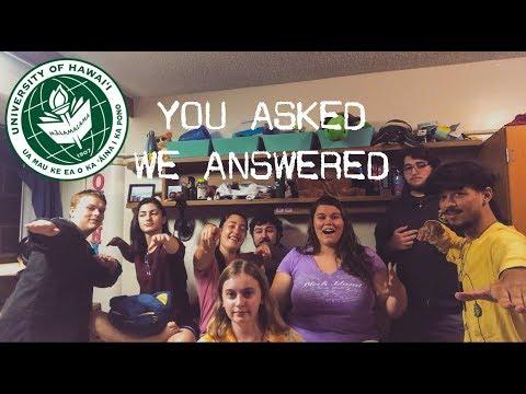 UH MANOA Q&A w/ MY FRIENDS