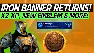 Destiny 2 - Season Exclusive Loot, Iron Banner Returns Details, New