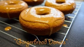 Soft Baked Gingerbread Donuts Recipe With Glaze