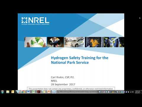 Hydrogen Safety Training Webinar for the National Park Service