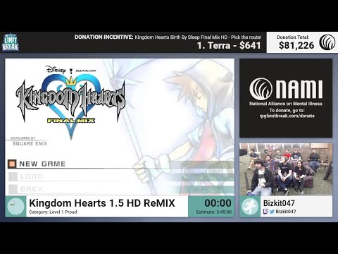 Kingdom Hearts 1.5 HD ReMIX (Level 1 Proud) By Bizkit047 (RPG Limit Break 2017 Part 44)