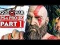 GOD OF WAR 4 Gameplay Walkthrough Part 1 [4K HD PS4 PRO] - No Commentary