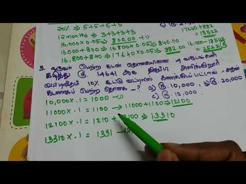 TNPSC, RRB,SSC exams- compound interest short cuts in tamil topic-3 part 2