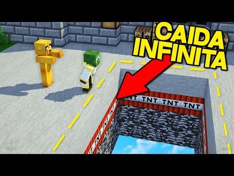 ¡YOUTUBERS VS CAIDA INFINITA! | MINECRAFT TROLL INFINITE DROPPER