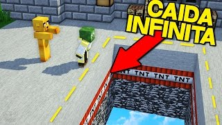 ¡YOUTUBERS VS CAIDA INFINITA! | MINECRAFT TROLL INFINITE DROPPER