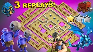 'New Amazing' TH12 WAR BASE 2018 Anti 2 Star With 3 Replays Anti Bowler Miner,E-Dragon Anti Queen