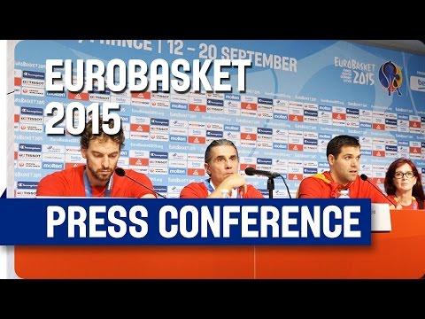 Spain v Lithuania - Post Game Press Conference - Re-Live - Eurobasket 2015