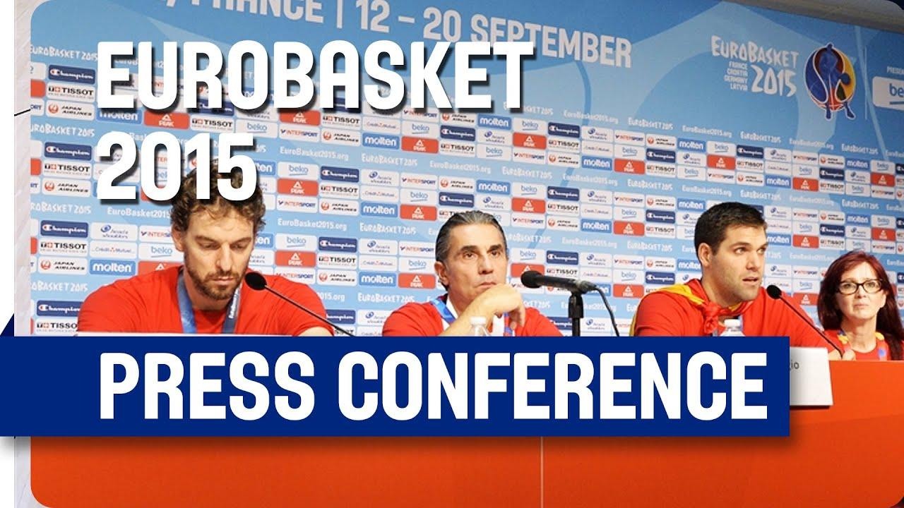 Spain v Lithuania - Post Game Press Conference - Live Stream - Eurobasket 2015