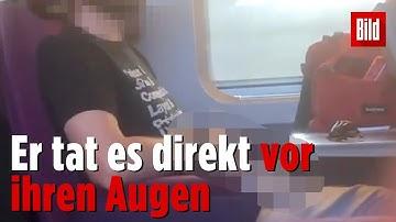 Er masturbierte im Zug neben ihr: Frau filmt Perversen und wird härter bestraft als er