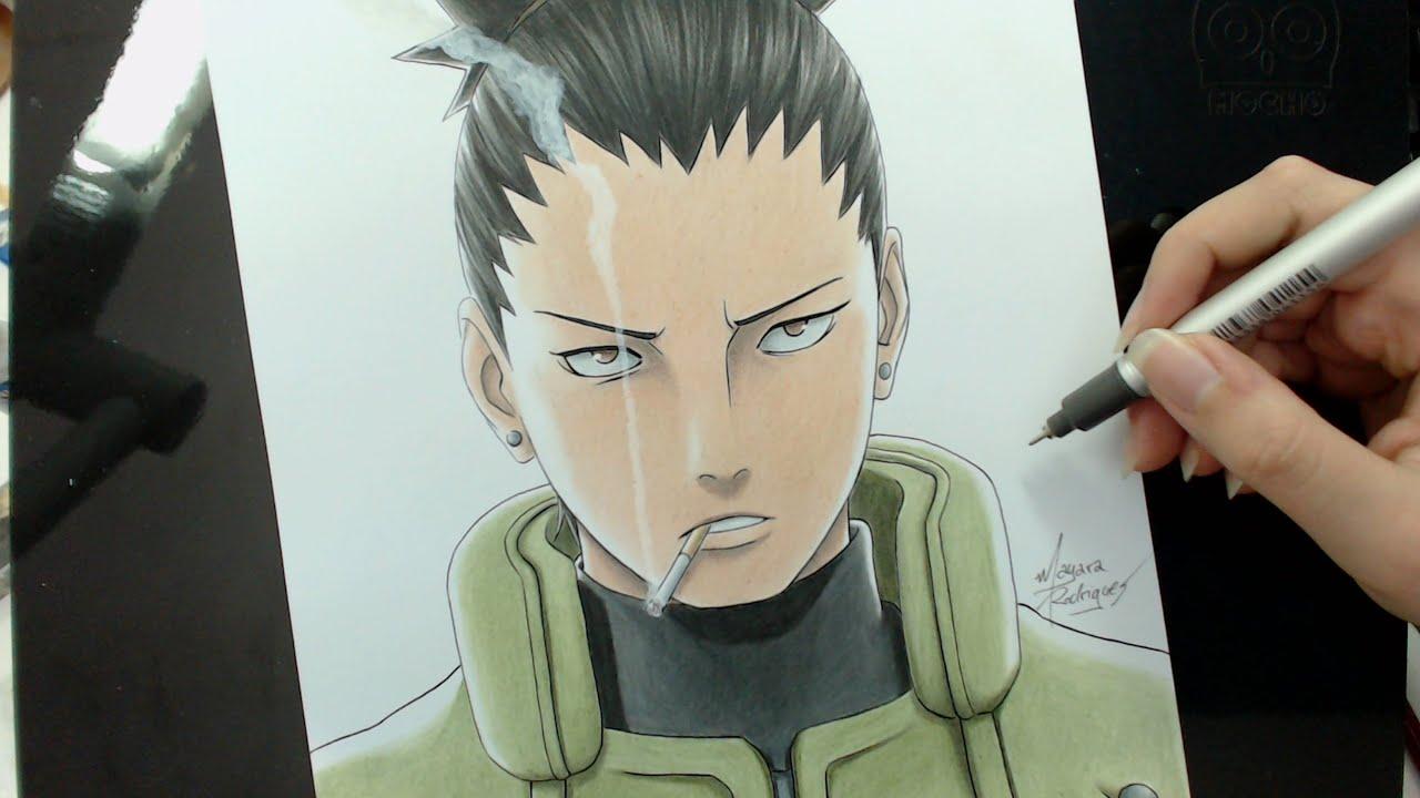 Speed Drawing - Nara Shikamaru (Naruto) - YouTube