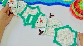 Copos y Muñecos de nieve tejido a crochet VIDEO #2
