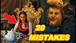 😱 20 BIGGEST MISTAKES - BEAUTY AND THE BEAST (2017)