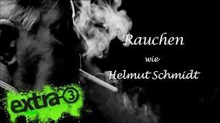 Eine Hommage: Rauchen wie Helmut Schmidt
