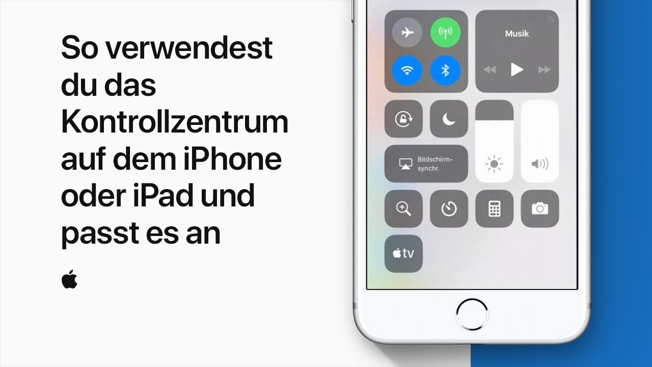 Kontrollzentrum Ipad