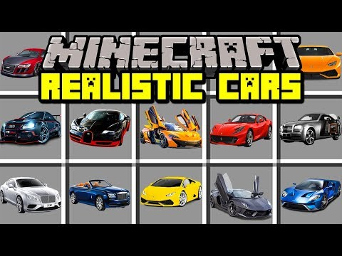 Minecraft REALISTIC CAR MOD!   BUILD AND DRIVE REAL SUPERCARS!   Modded Mini-Game