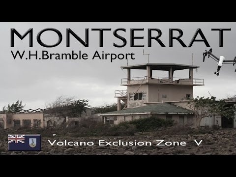 Bramble Airport Buried Forever ~ MONTSERRAT ~ Exclusion Zone V ~ Drone Caribbean ~ WeBeYachting.com