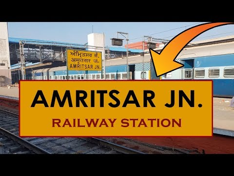 ASR, Amritsar Junction railway station, India in 4k ultra Hd