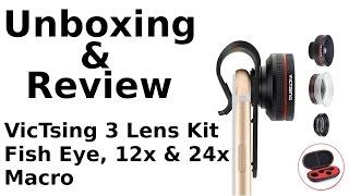 VicTsing 3 Lens Kit - Unboxing Test & Review