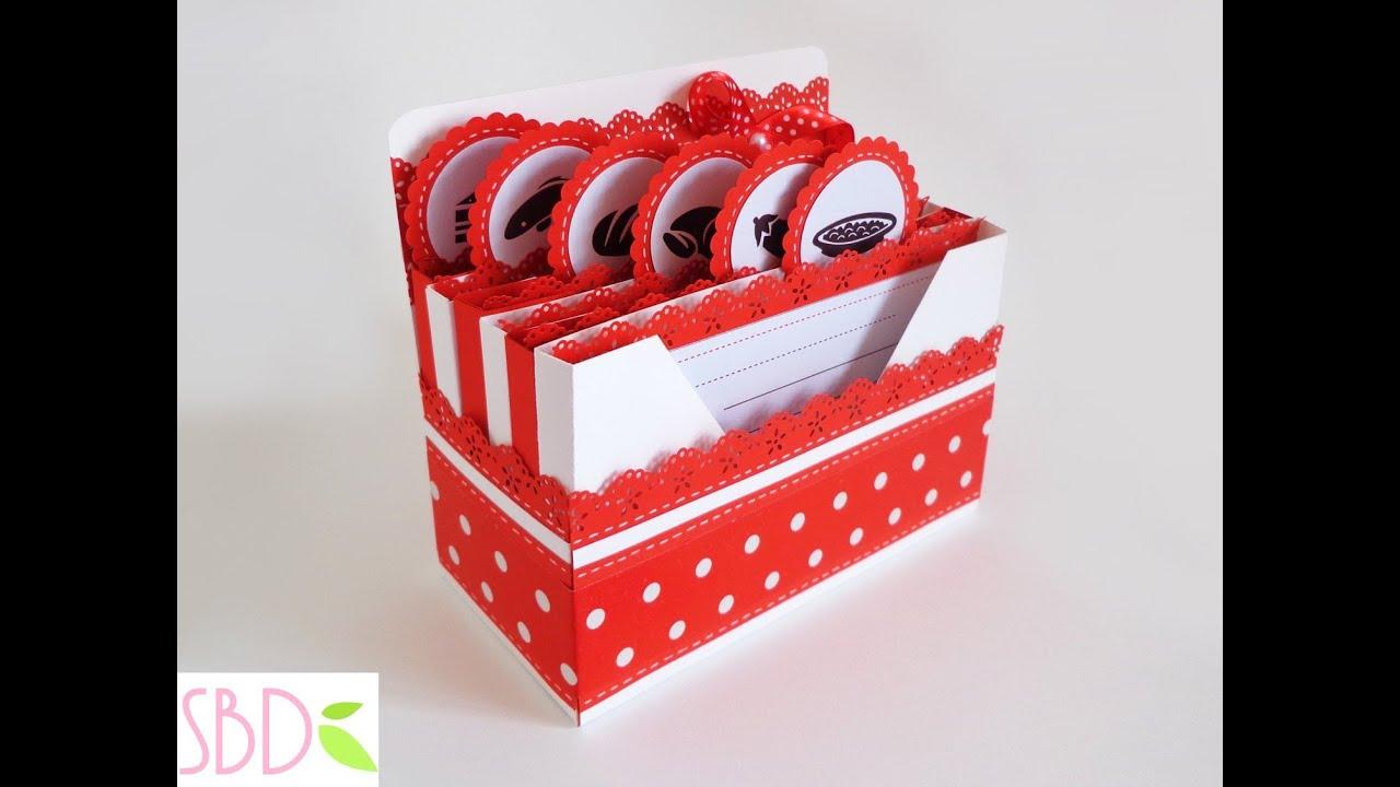 Scatola porta ricette fai da te receipes box diy youtube - Porta a libro fai da te ...