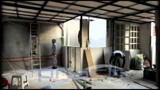 Ampliacion de tercer nivel con muros y techo ligeros de glasrock - trabajos 12.2011 prark.wmv