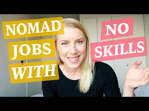 Digital Nomad Jobs - WITH NO SKILLS ♡ 50 Job Ideas Part 1
