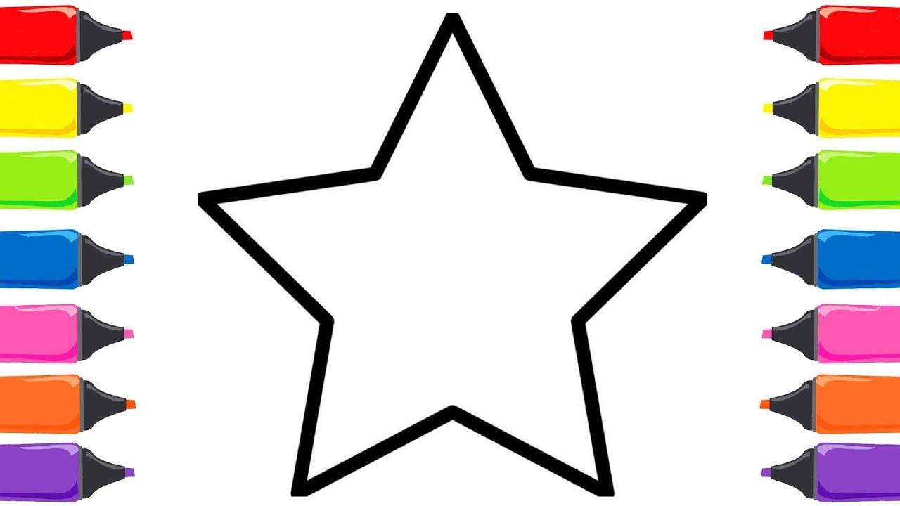 Renkleri öğreniyorum Yıldız Boyama Ve El Boyama Sayfası Boyama