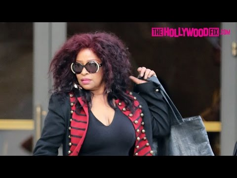 Chaka Khan Attends Natalie Cole's Funeral In Los Angeles 1.11.16 - TheHollywoodFix.com