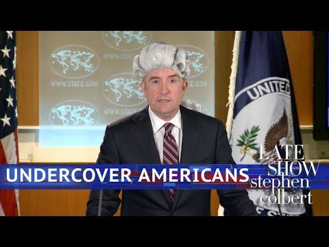 Stephen Colbert vs. Americans Should Keep Low Profile In London