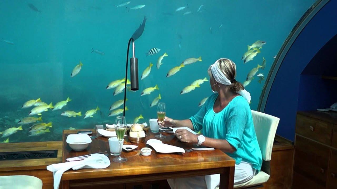 Exceptionnel Restaurant sous l'eau Maldives 2013 Hotel Conrad - YouTube ED98