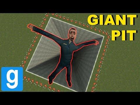 TERRIFYING NEXTBOTS IN GIANT PIT! - Gmod Sandbox - YouTube