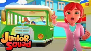колеса на автобусе музыка для малышей обучающие Junior Squad Russia детские песни