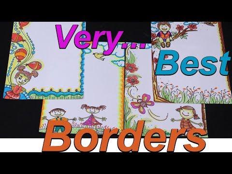 Project File Borders Kids Art Frame Border Designs Cartoon Borders Chaild Art My Creative Hub Youtube