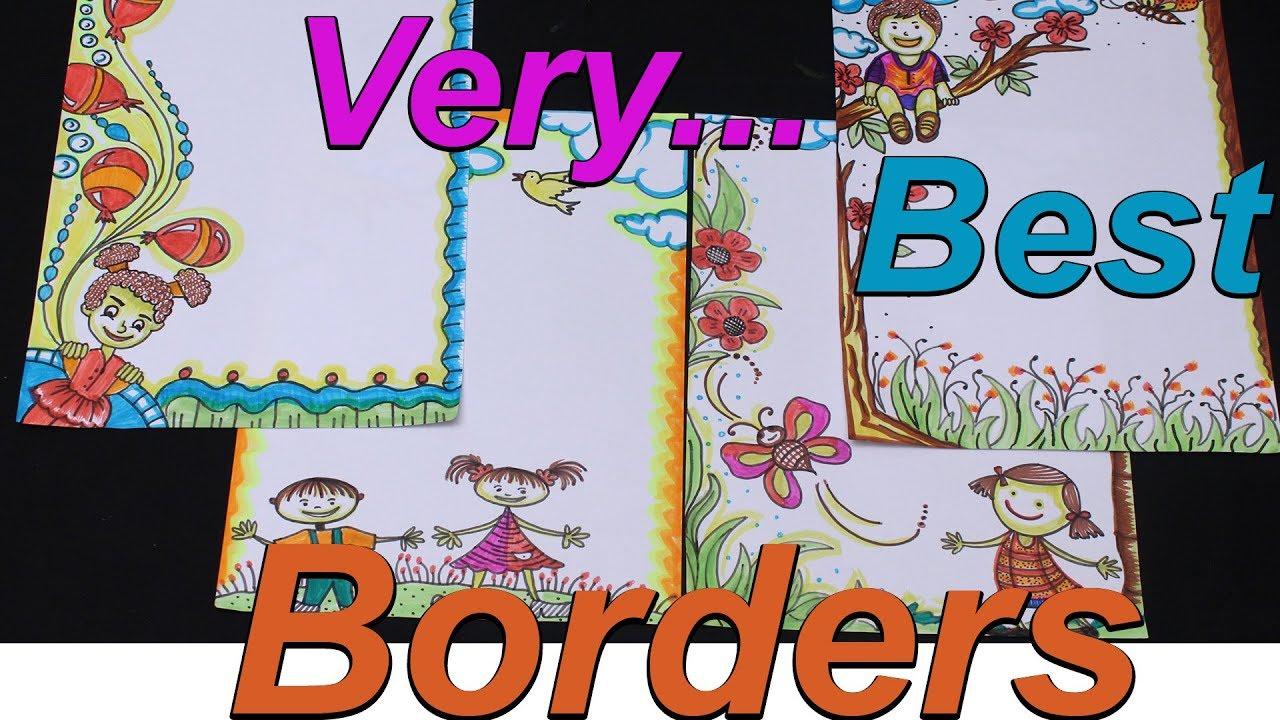 Project File Borders Kids Art Frame Border Designs Cartoon
