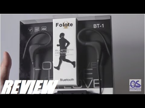 Review Folote Bt 1 Bluetooth Sports Headphones Youtube