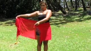 How To Tie A Sarong Half Wrap