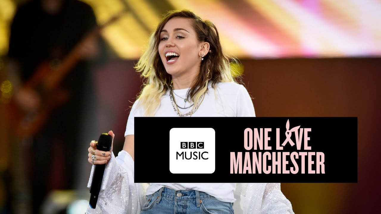 miley cyrus inspired one love manchester youtube