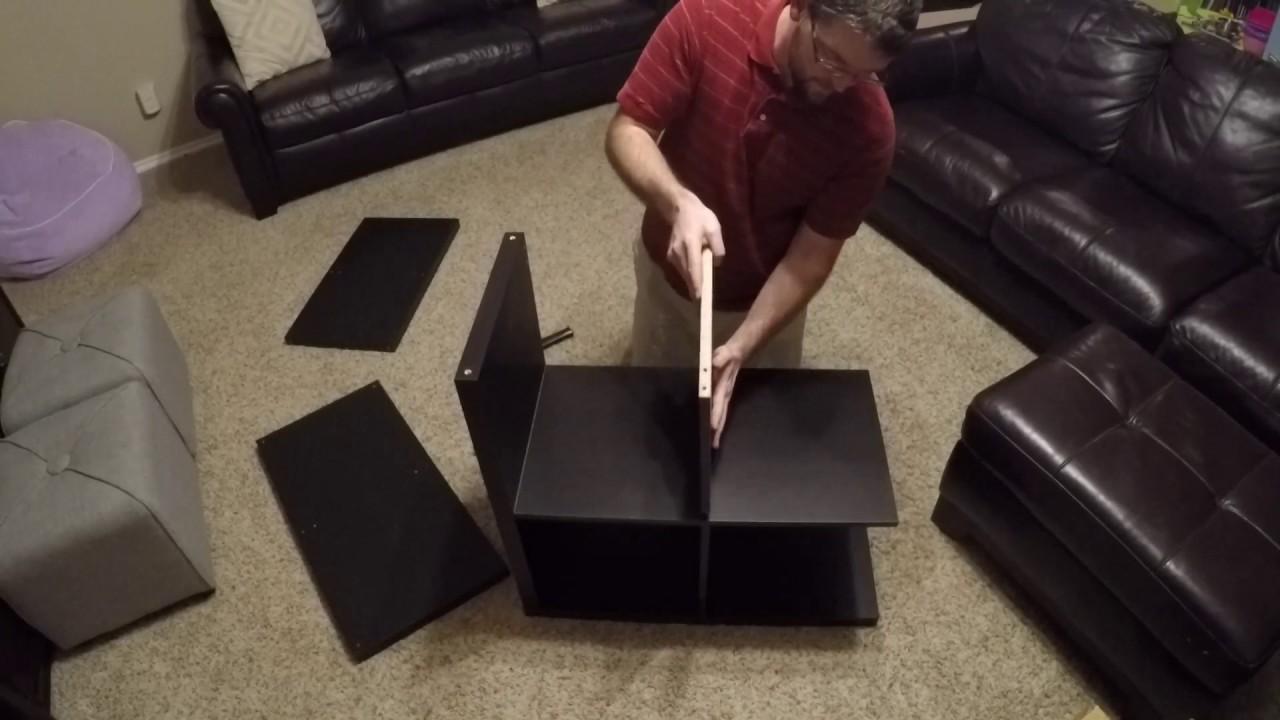 ikea kallax 2x2 assembly youtube. Black Bedroom Furniture Sets. Home Design Ideas